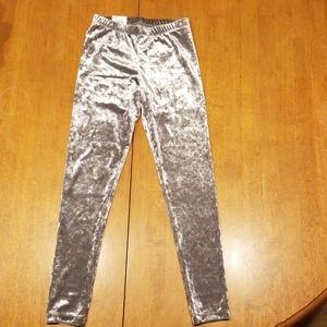 Girls velvet leggings size 7/8